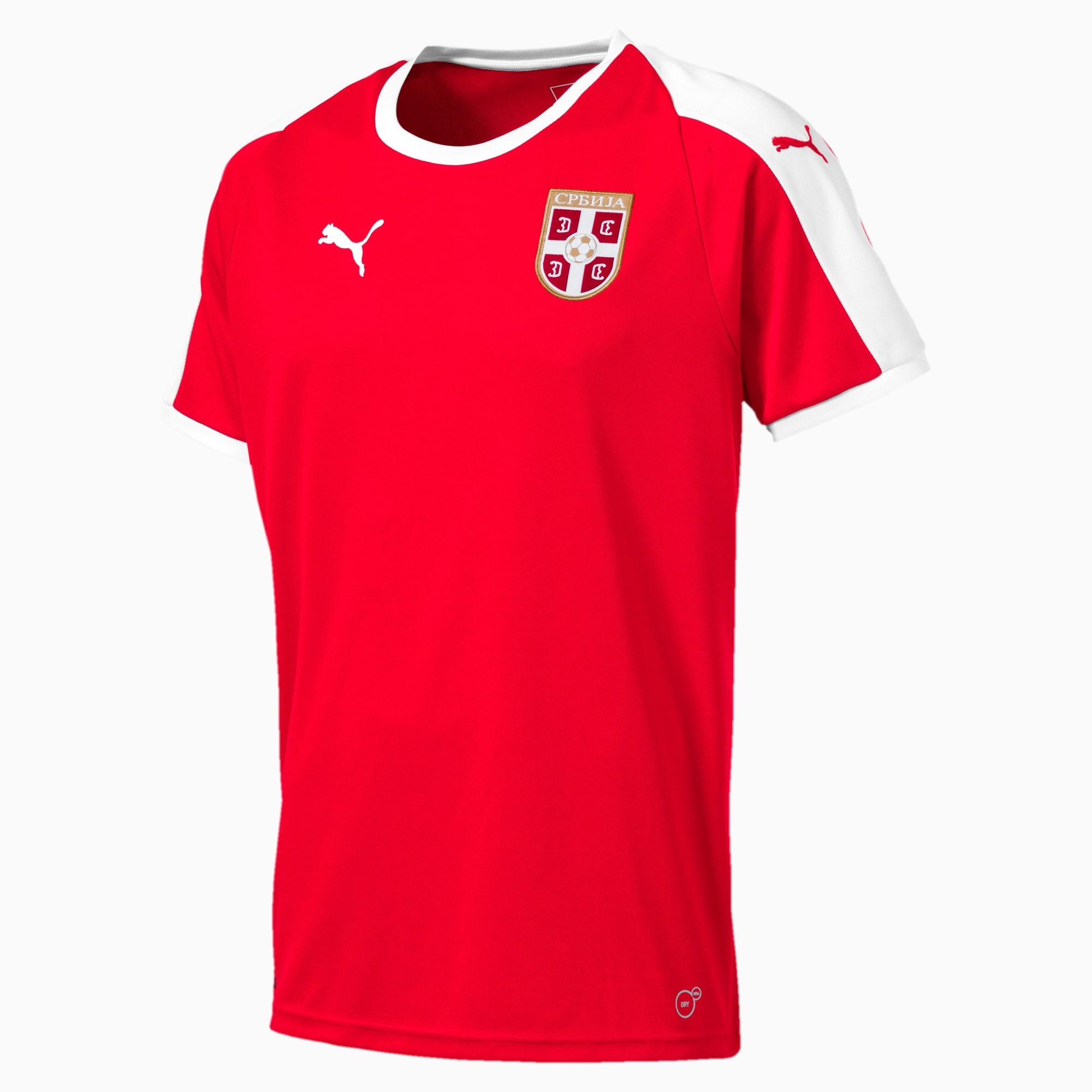 maillot domicile serbie pour homme, rouge/blanc, taille s, vêtements