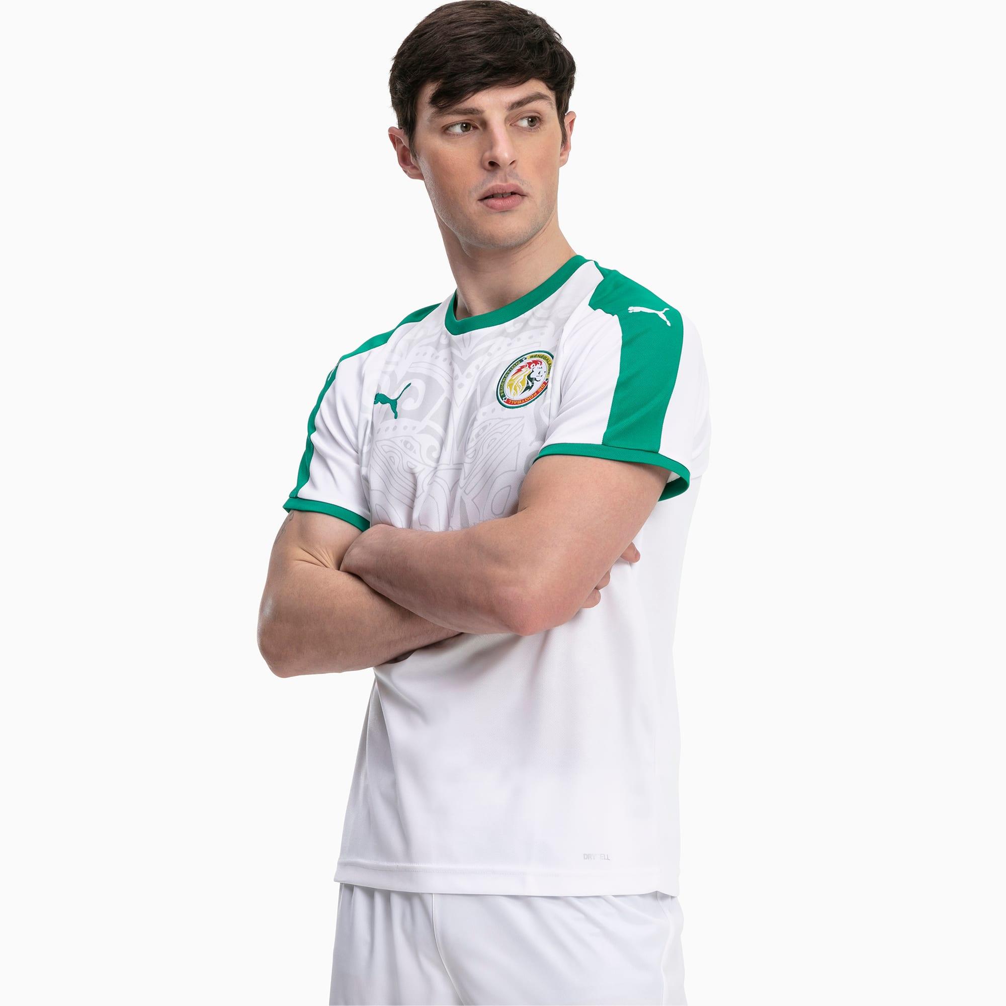 maillot domicile senegal replica pour homme, blanc/vert, taille xxl, vêtements
