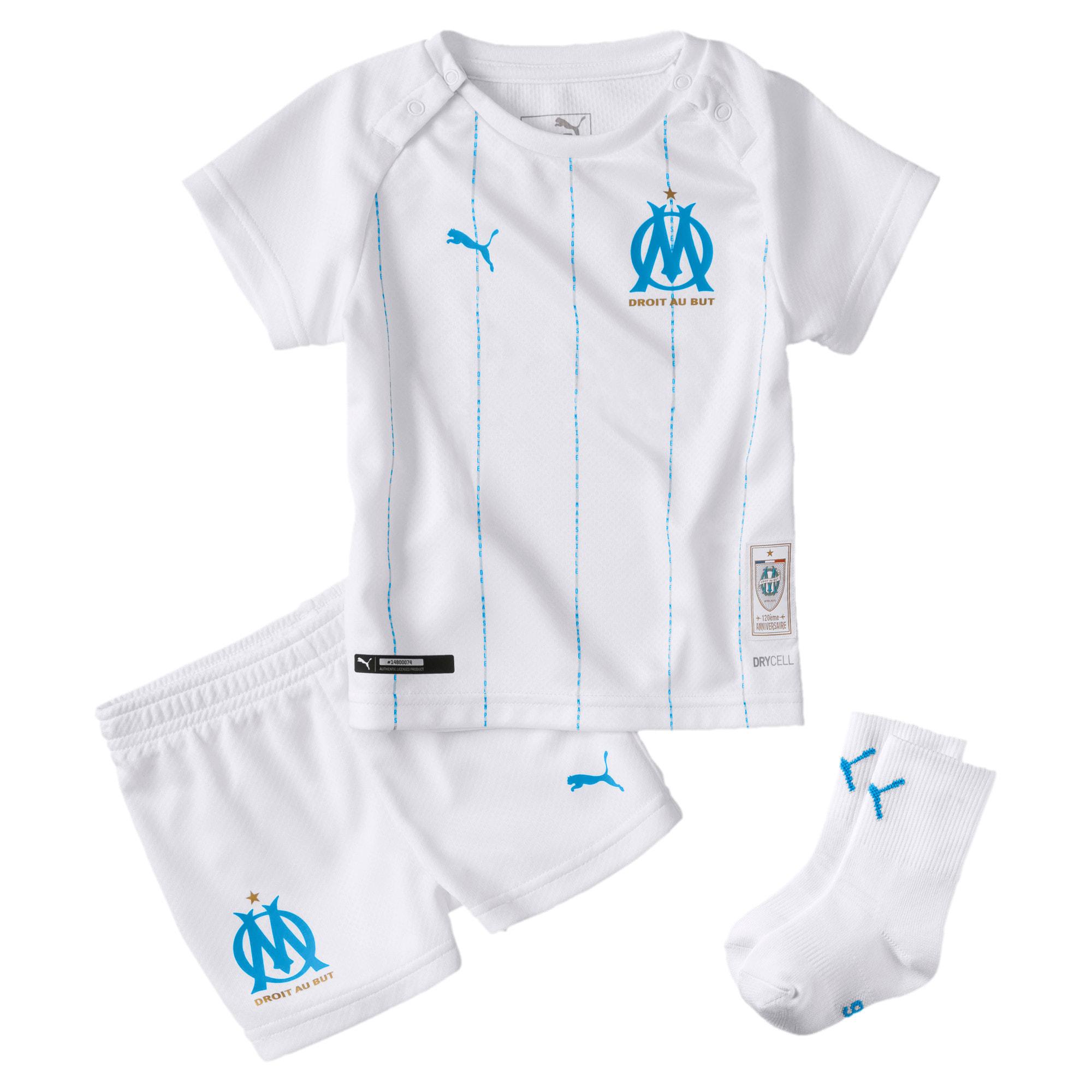 Olympique de Marseille Babies' Home Mini Kit, Wit/Blauw, Maat 86 | PUMA