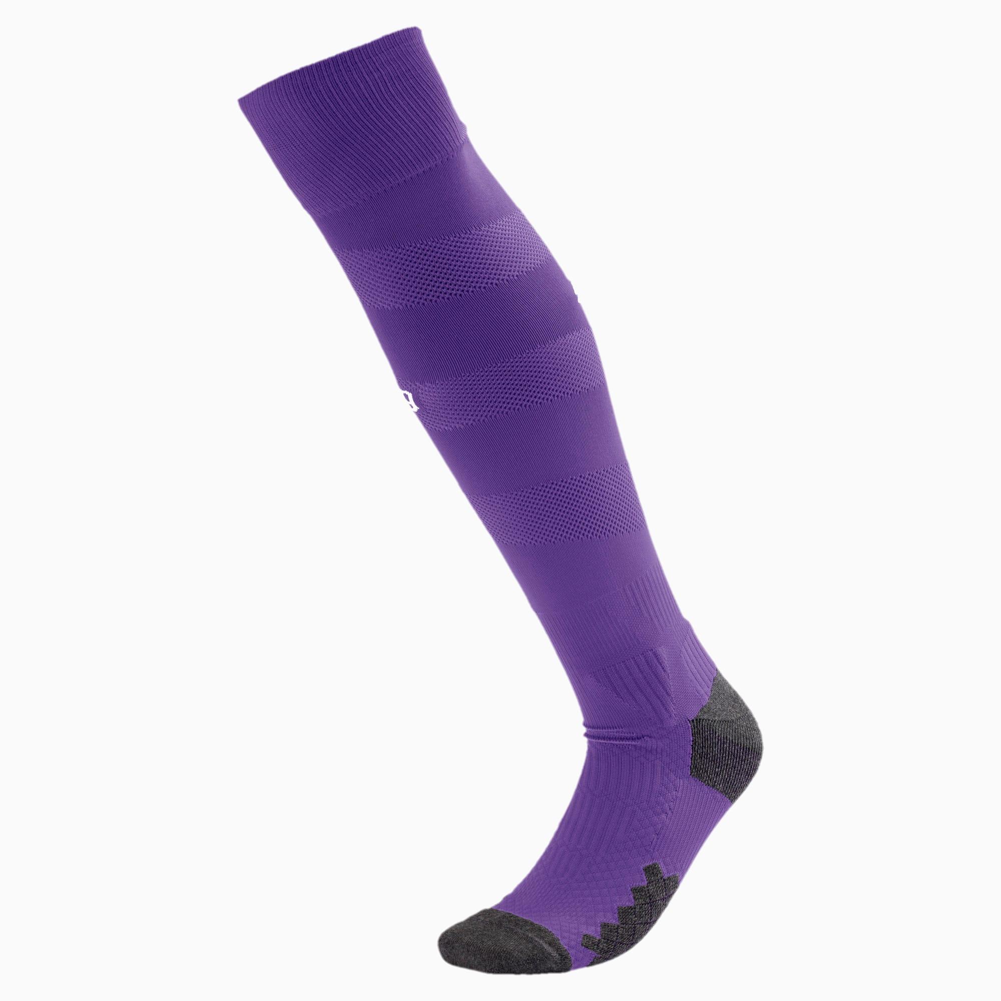 PUMA BVB Herren Spiral Socken   Mit Aucun   Lila/Weiß   Größe: 47-49 755759_04_47-49