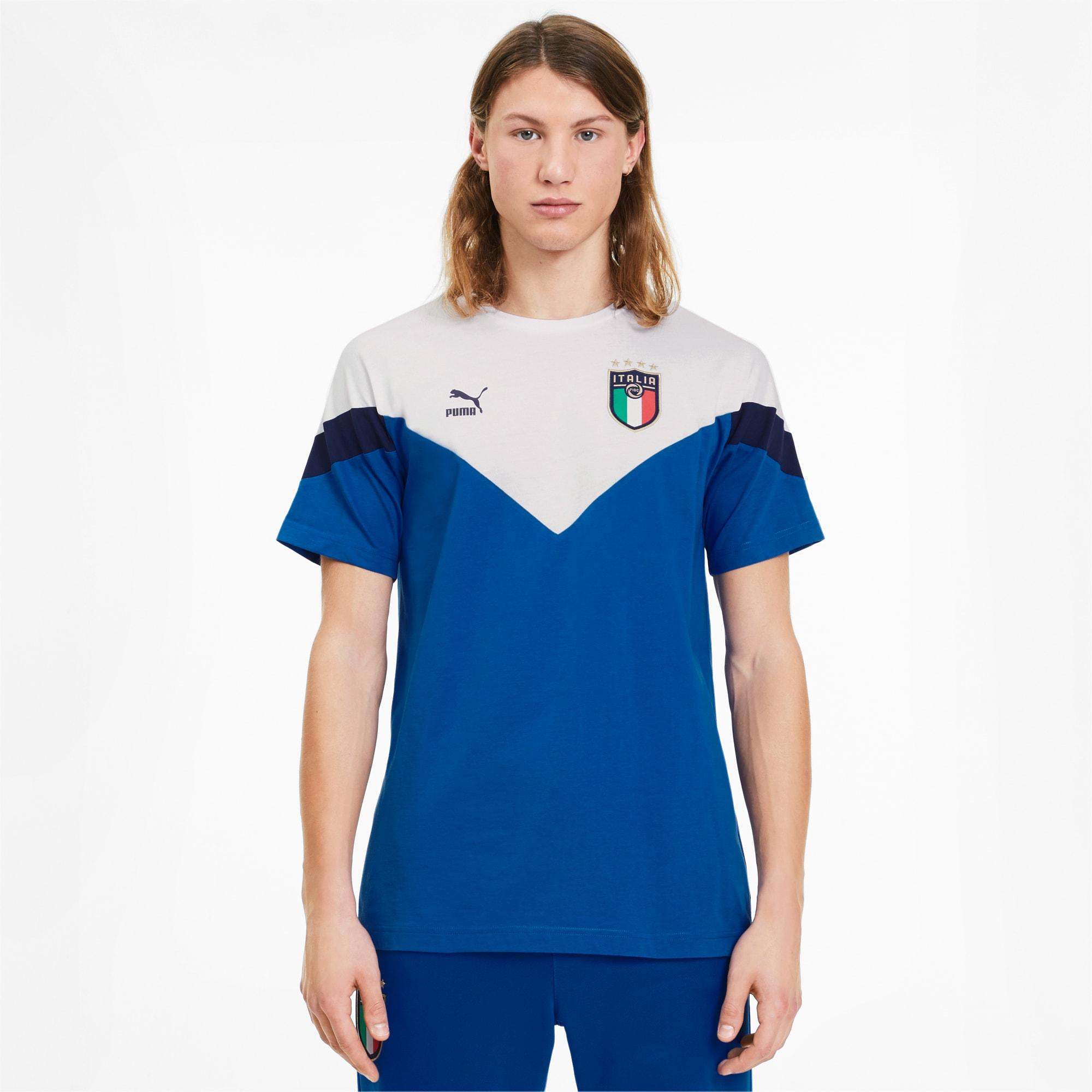 t-shirt italia iconic mcs pour homme, bleu/blanc, taille l, vêtements