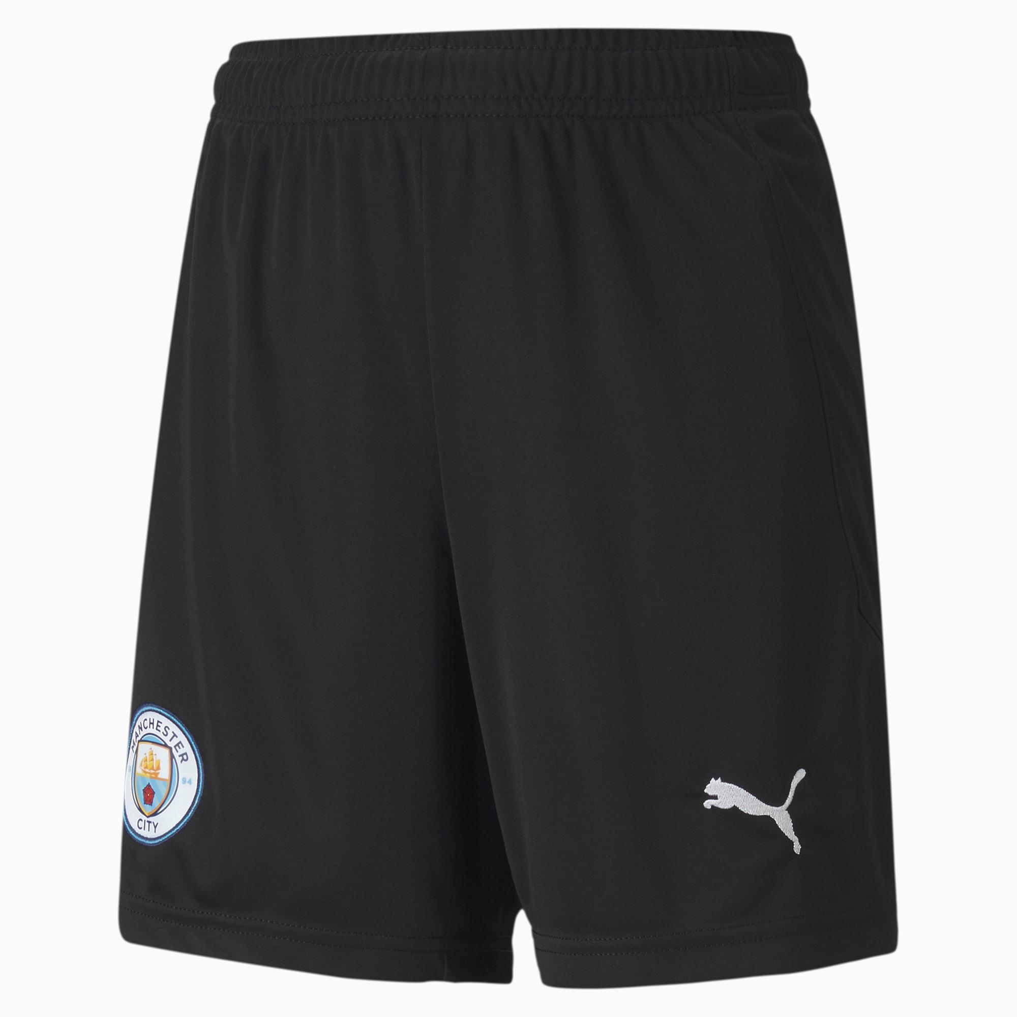 Shorts de Portero Réplica Del Manchester City Juveniles, Gris/Negro, Talla 128   PUMA