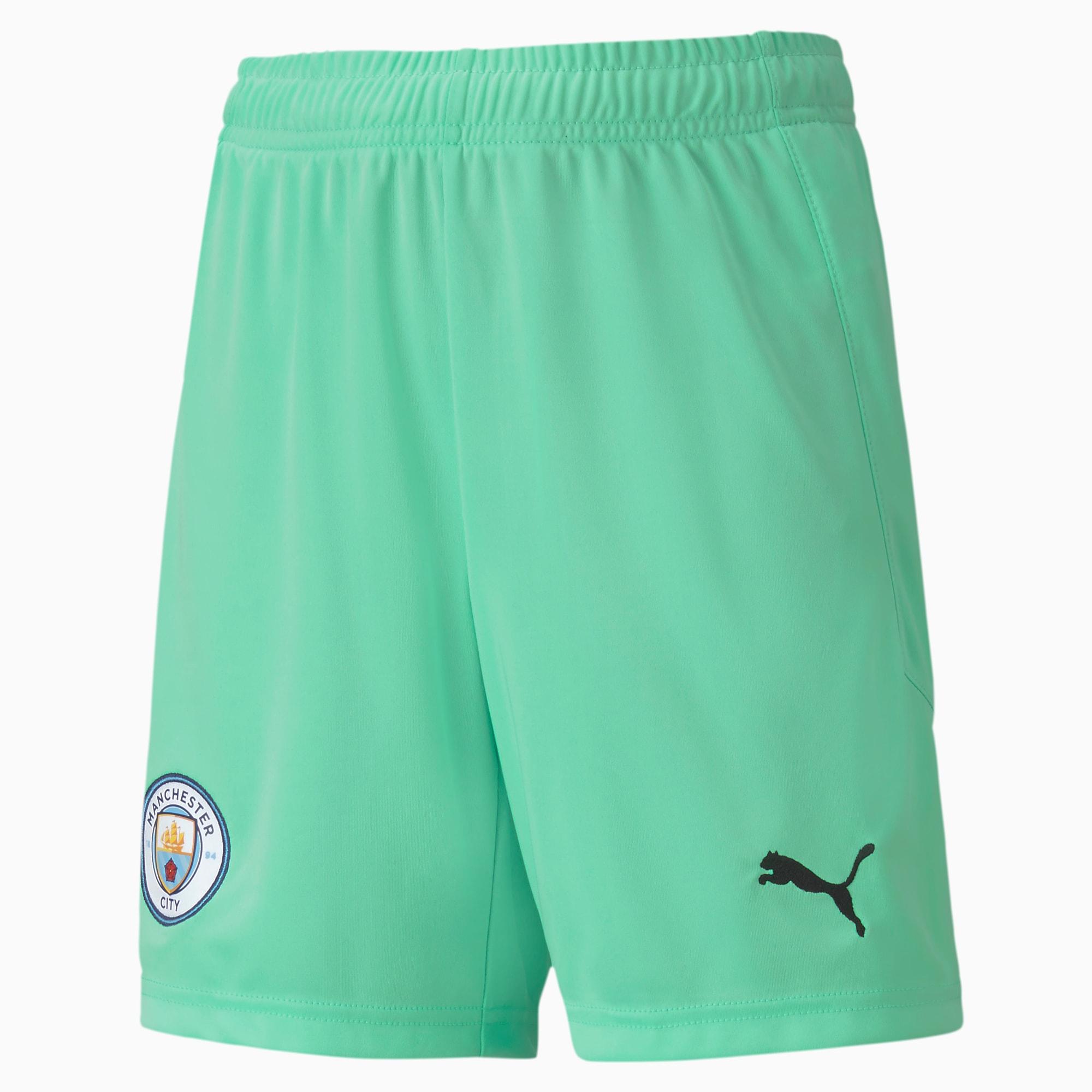 Shorts de Portero Réplica Del Manchester City Juveniles, Verde, Talla 176   PUMA