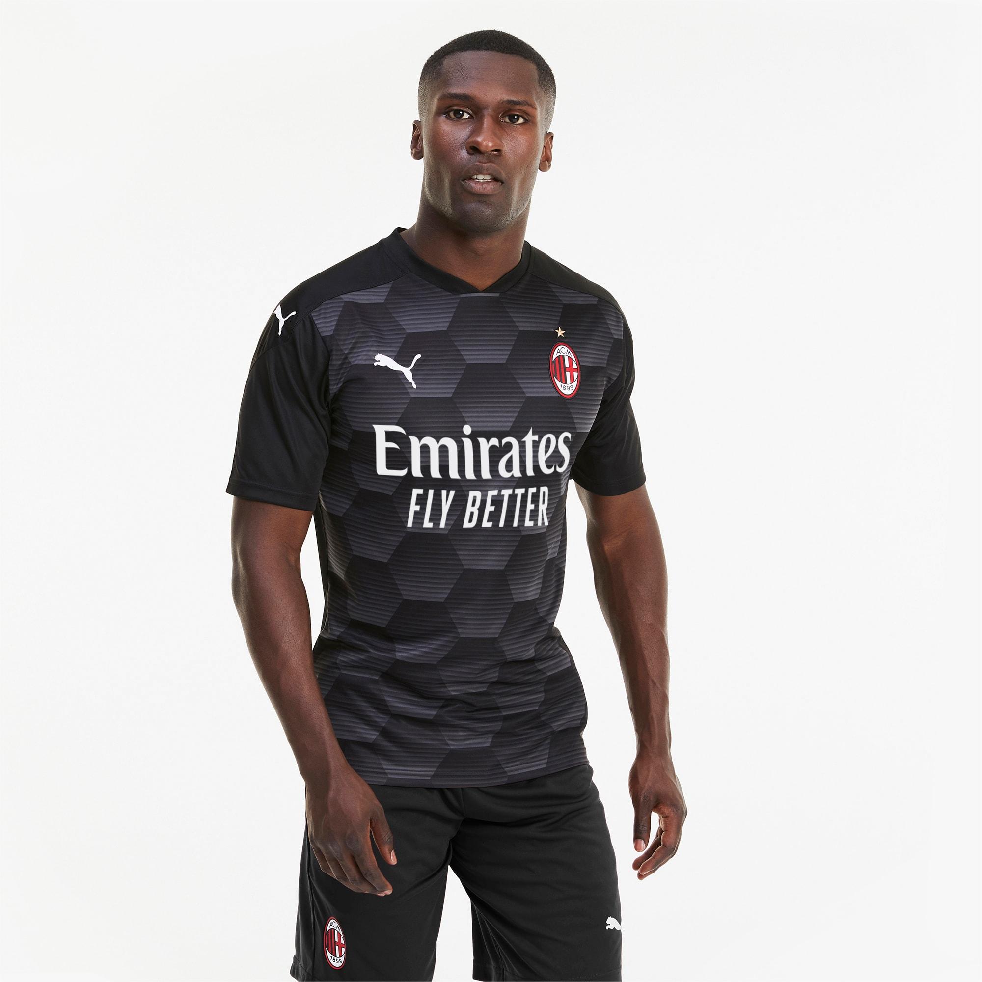 PUMA AC Milan Replica Herren Torwarttrikot   Mit Aucun   Schwarz   Größe: XXL