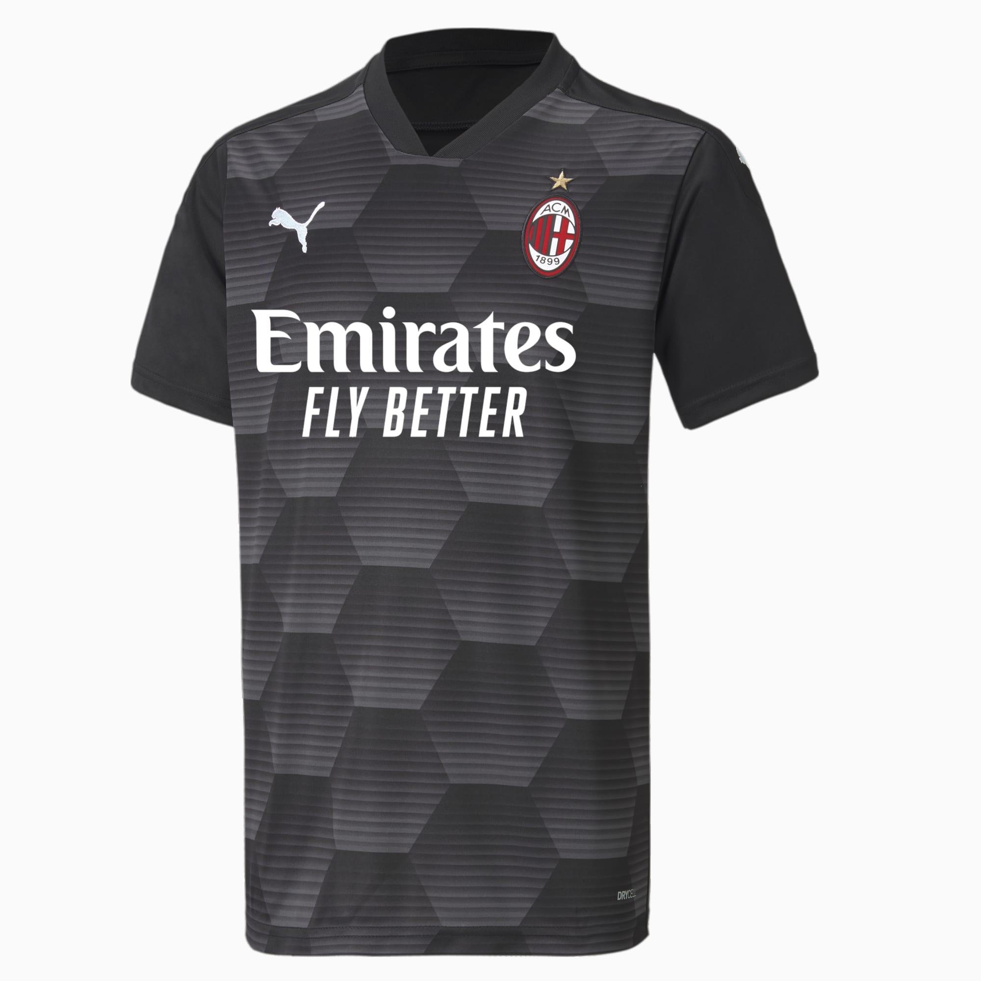 Camiseta de Portero Juvenil Réplica Del AC Milan, Negro, Talla 152   PUMA