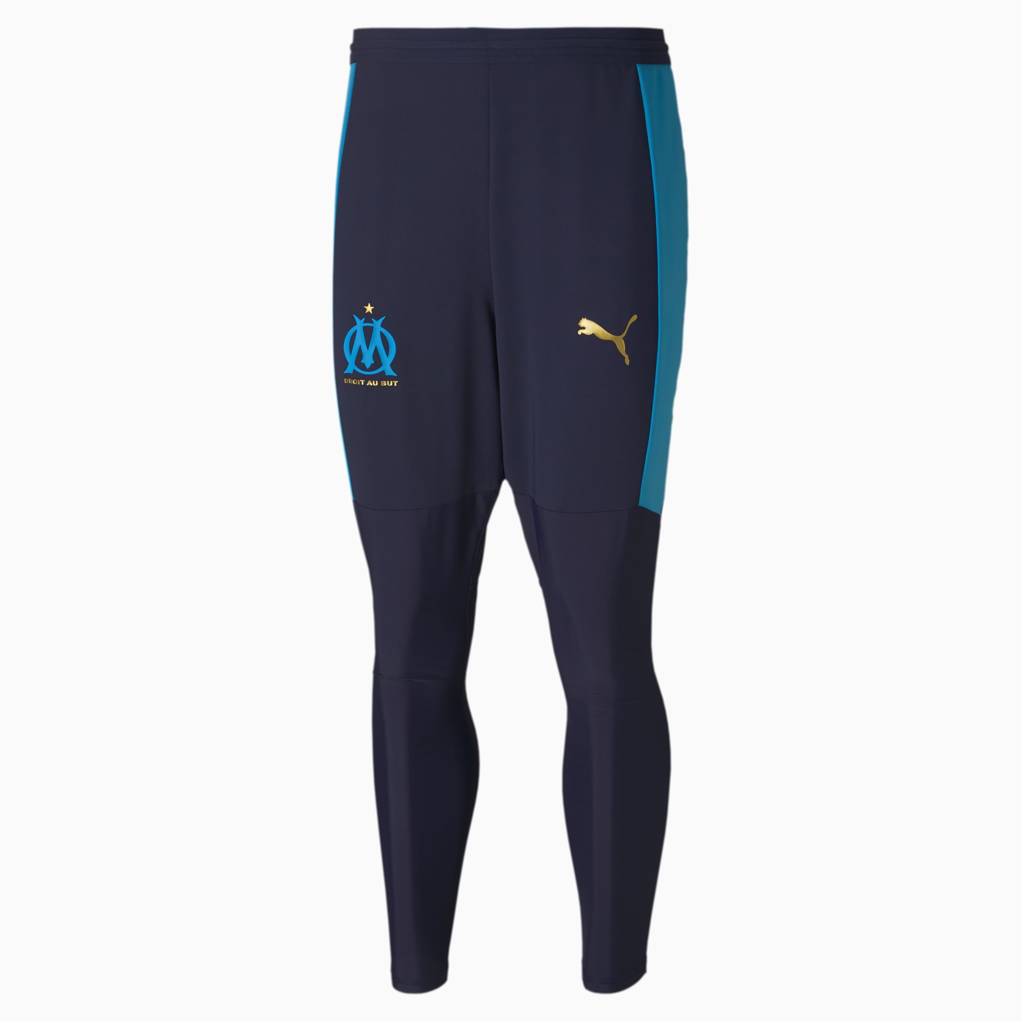 puma -  Olympique de Marseille Pro Herren Trainingshose | Blau | Größe: L