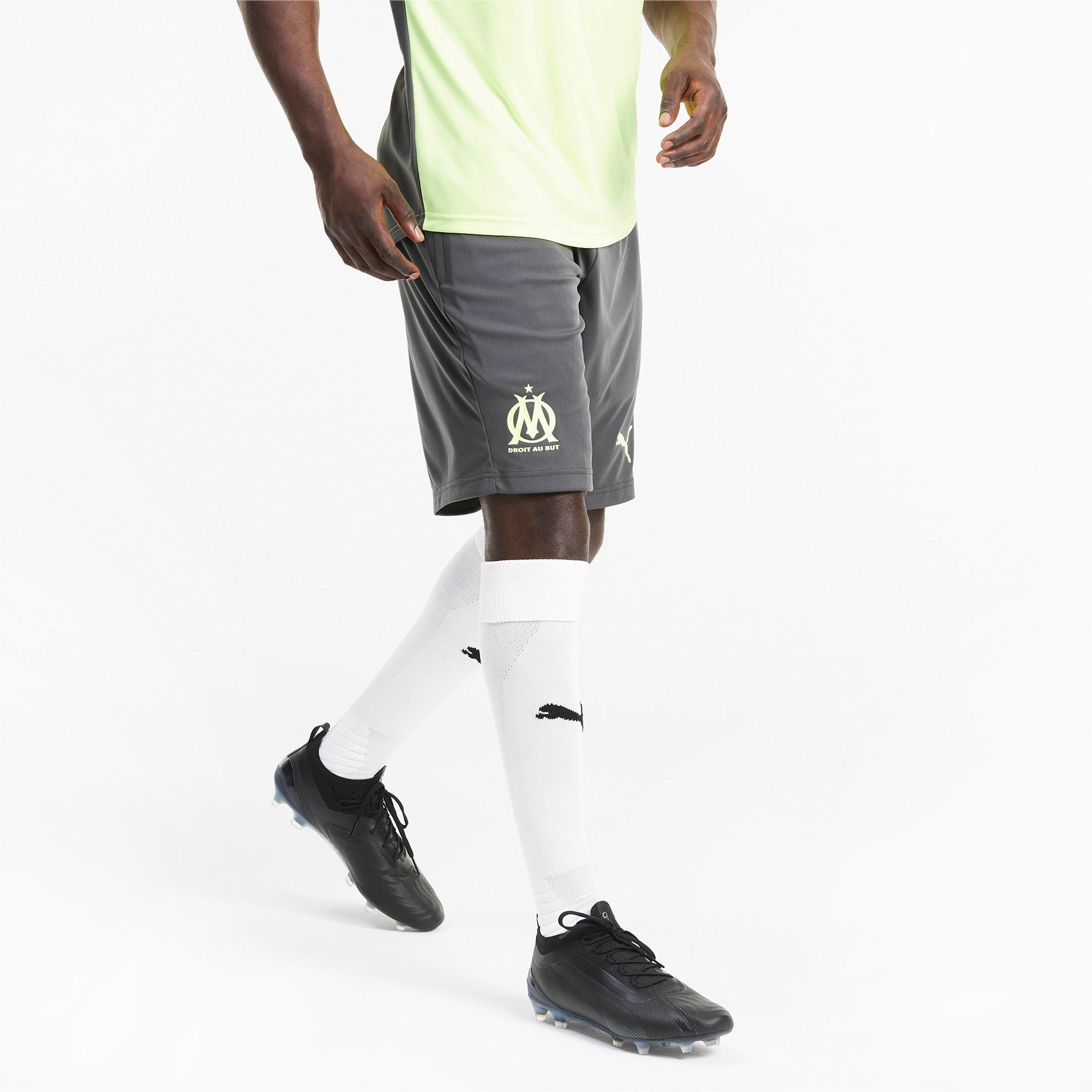 Shorts de Entrenamiento Del Olympique de Marseille Para Hombre, Gris/Amarillo, Talla 3XL   PUMA Hombres