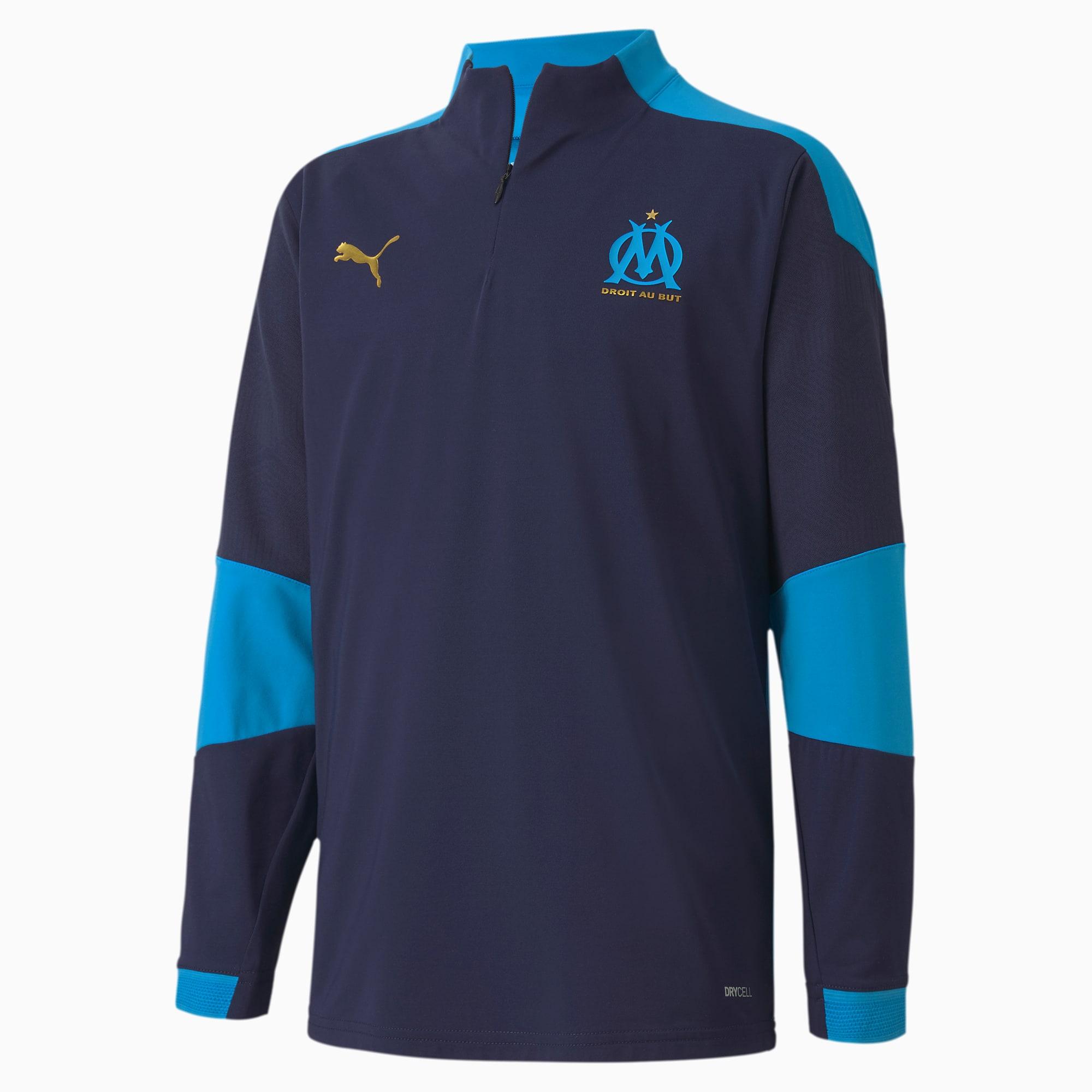 PUMA Olympique de Marseille Youth Training Sweatshirt Für Kinder   Mit Aucun   Blau   Größe: 128