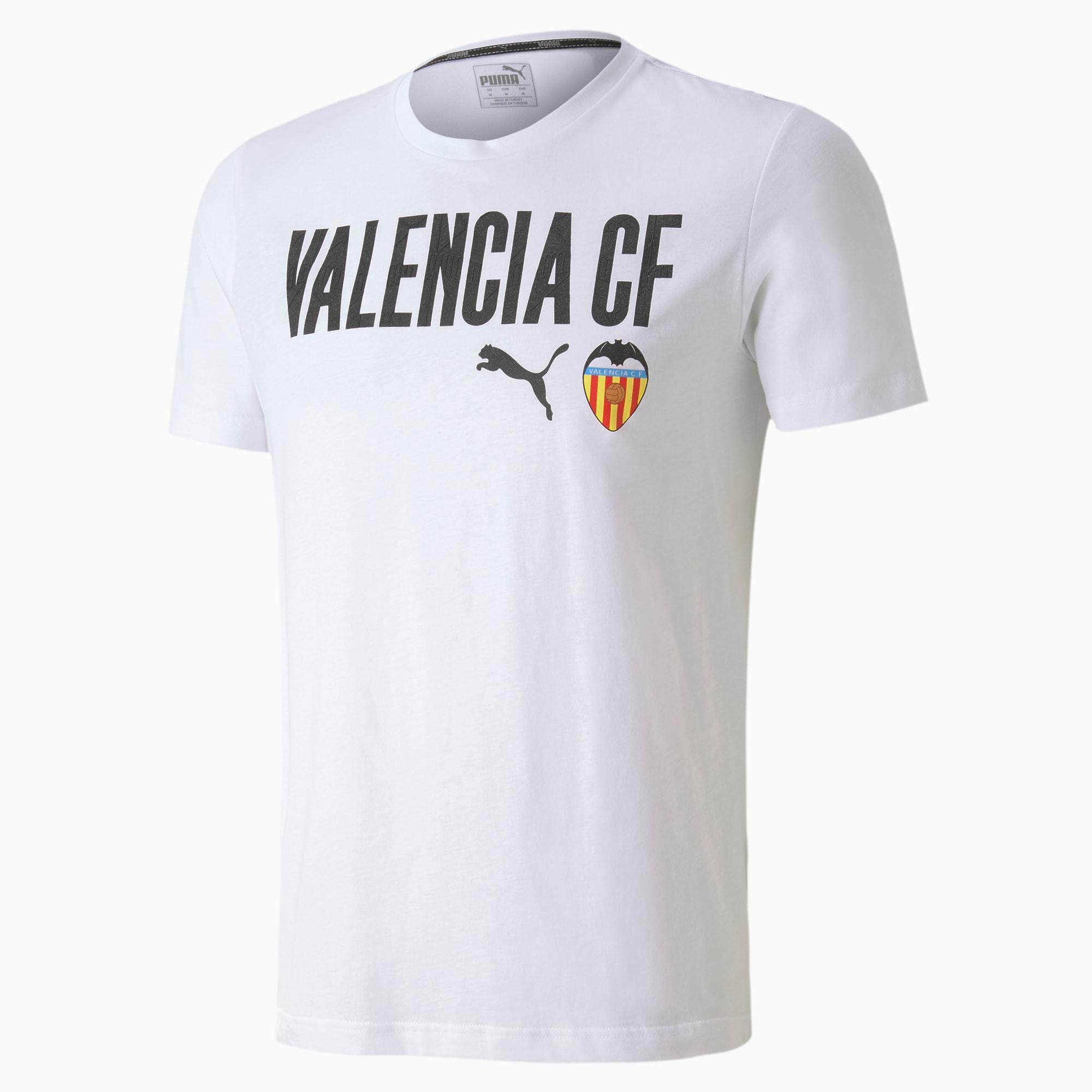 Valencia CF ftblCORE Wording voetbalshirt voor Heren, Wit/Zwart, Maat M | PUMA