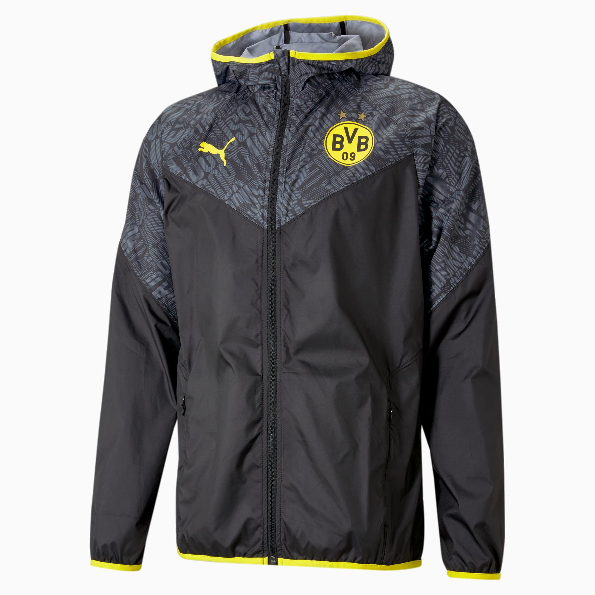 PUMA BVB Warm-Up Herren Fußballjacke | Mit Aucun | Schwarz/Gelb | Größe: XL