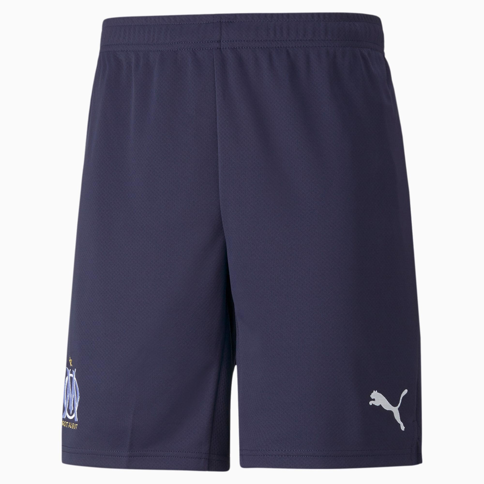 OM Replica voetbalshort heren, Blauw/Wit, Maat XL | PUMA