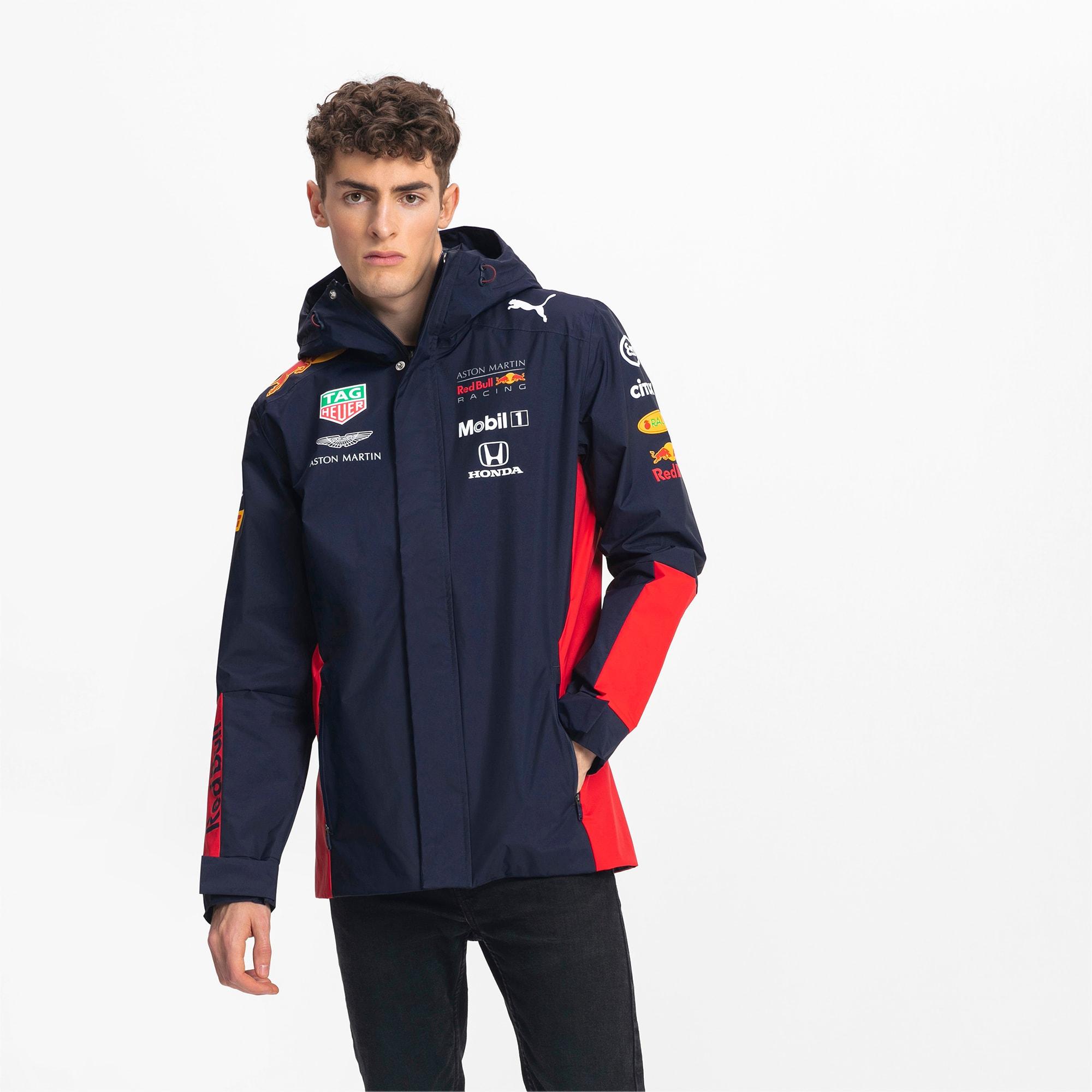 puma -  Red Bull Racing Herren Team Regenjacke mit Kapuze | Mit Aucun | Schwarz | Größe: XXL