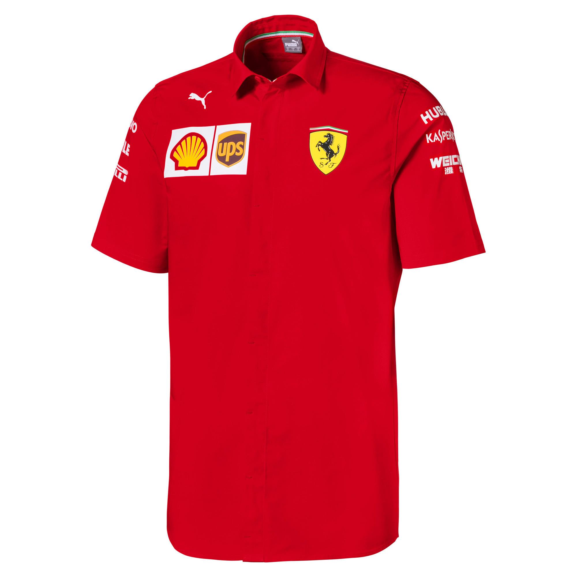 PUMA Chemise Ferrari Team à manches courtes pour Homme, Rouge, Taille XS