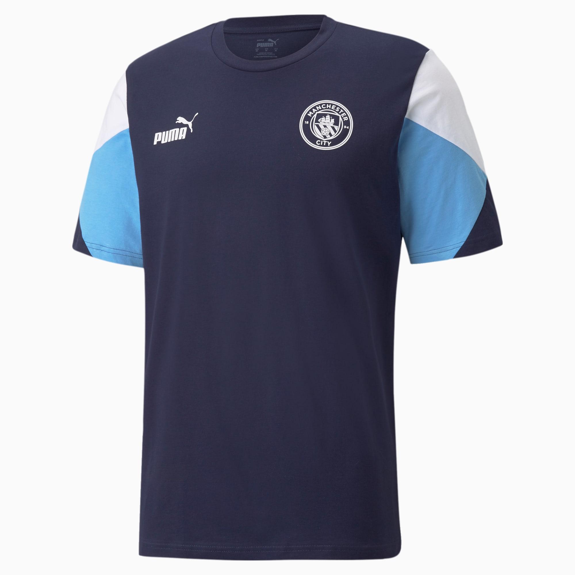 Man City FtblCulture voetbal-T-shirt, Blauw/Wit, Maat 3XL   PUMA