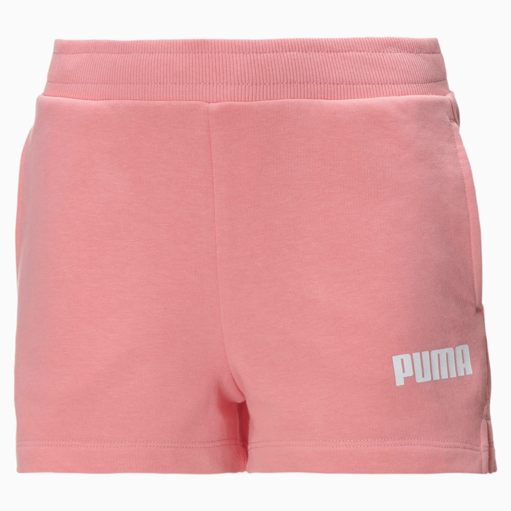 Short en sweat style éponge pour fille, Blanc/, Taille 164, Vêtements - PUMA - Modalova
