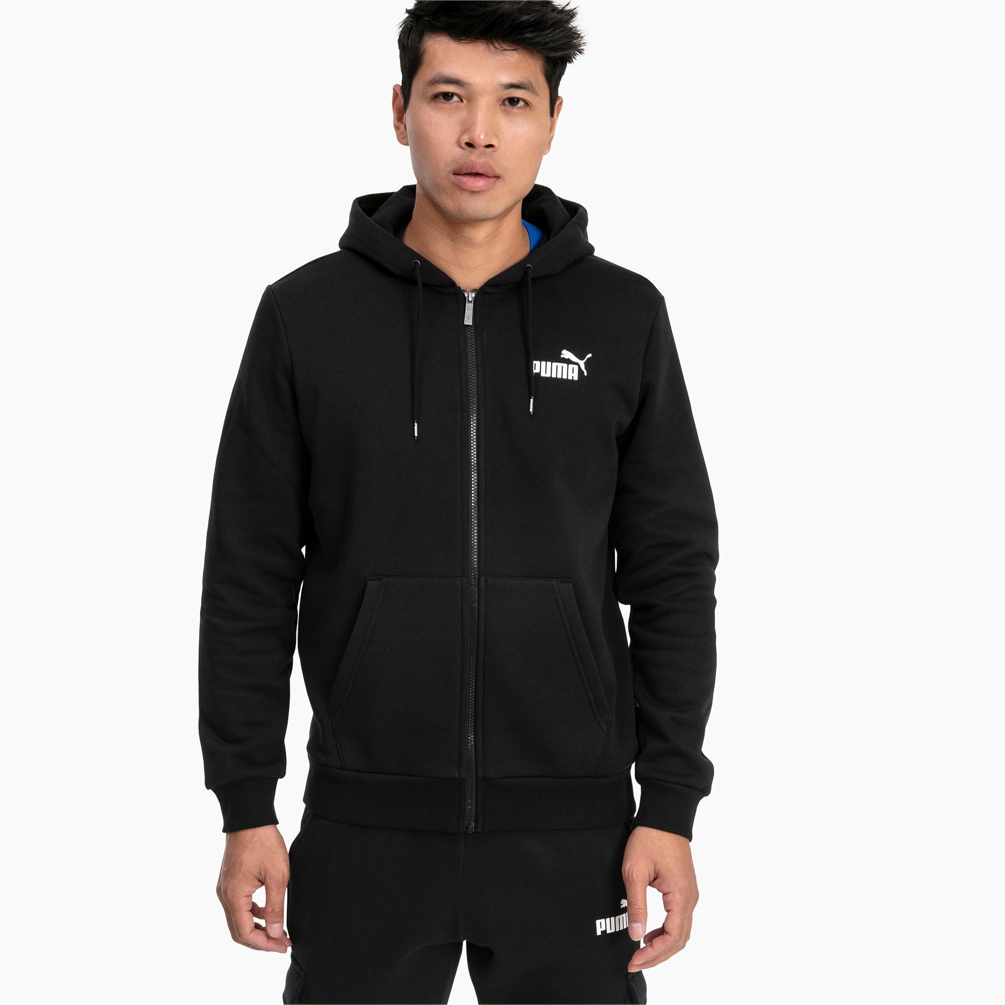 blouson à capuche essentials fleece pour homme, noir, taille xs, vêtements