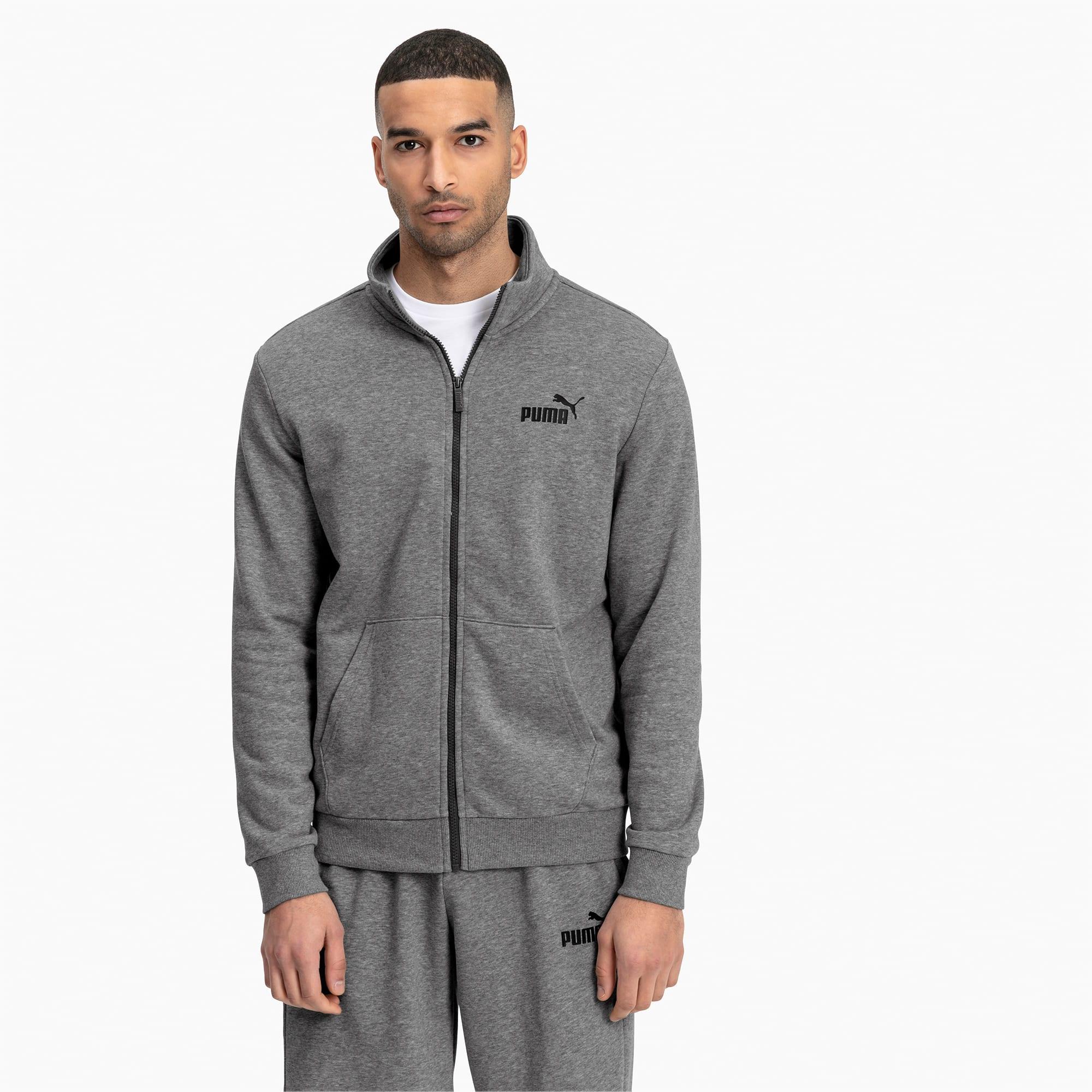 blouson en sweat essentials pour homme, gris/bruyère, taille xxl, vêtements