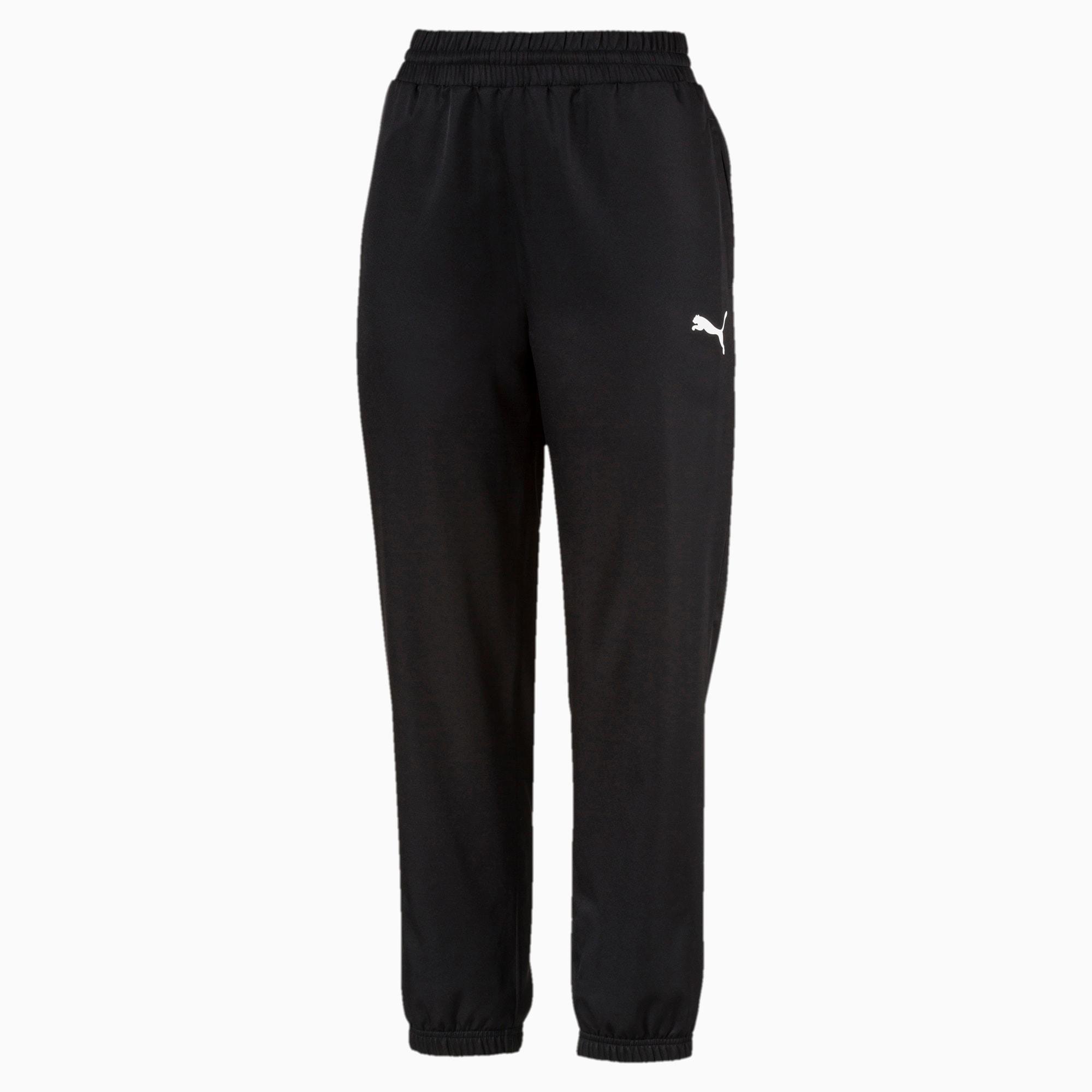 Geweven Active broek voor Dames, Zwart, Maat M   PUMA