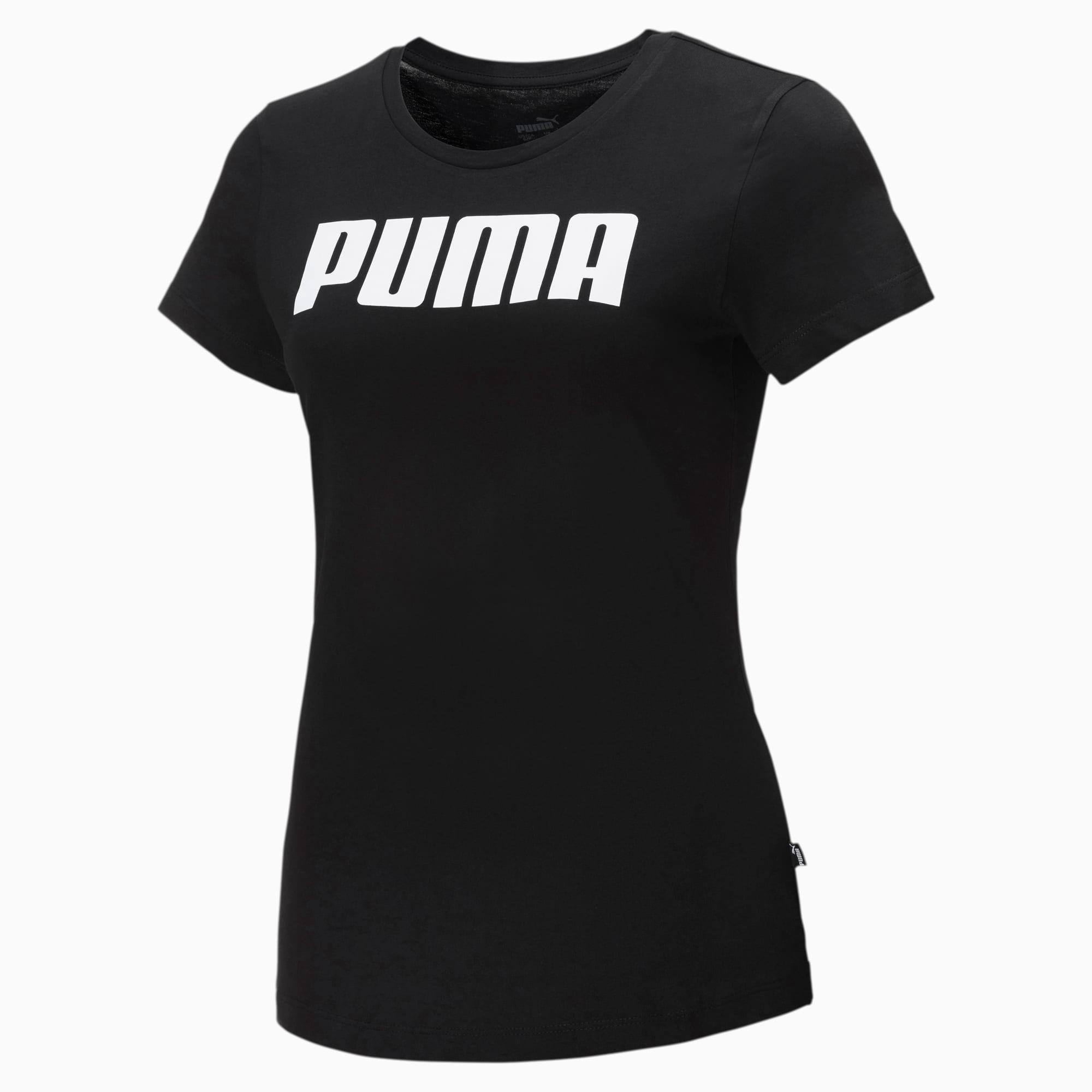 puma -  Essentials Damen T-Shirt   Mit Aucun   Schwarz   Größe: XL