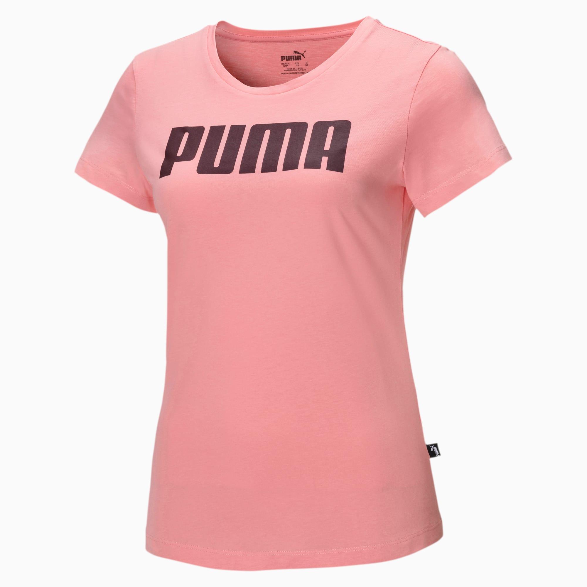 puma -  Essentials Damen T-Shirt   Mit Aucun   Rosa   Größe: M