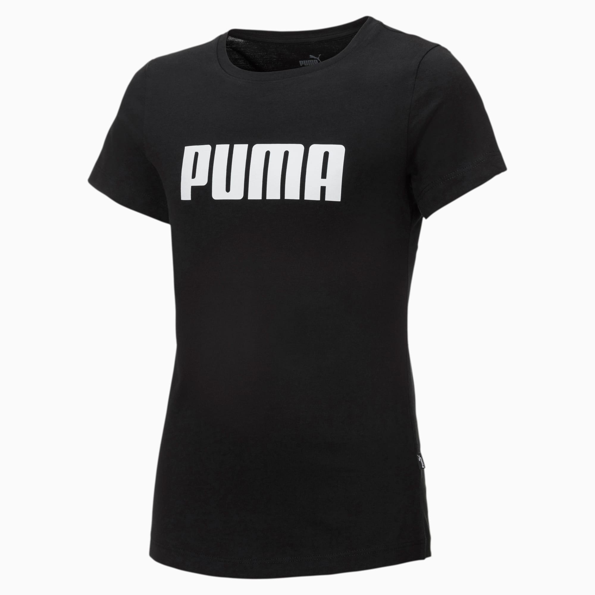 Essentials T-shirt meisjes, Zwart, Maat 104 | PUMA