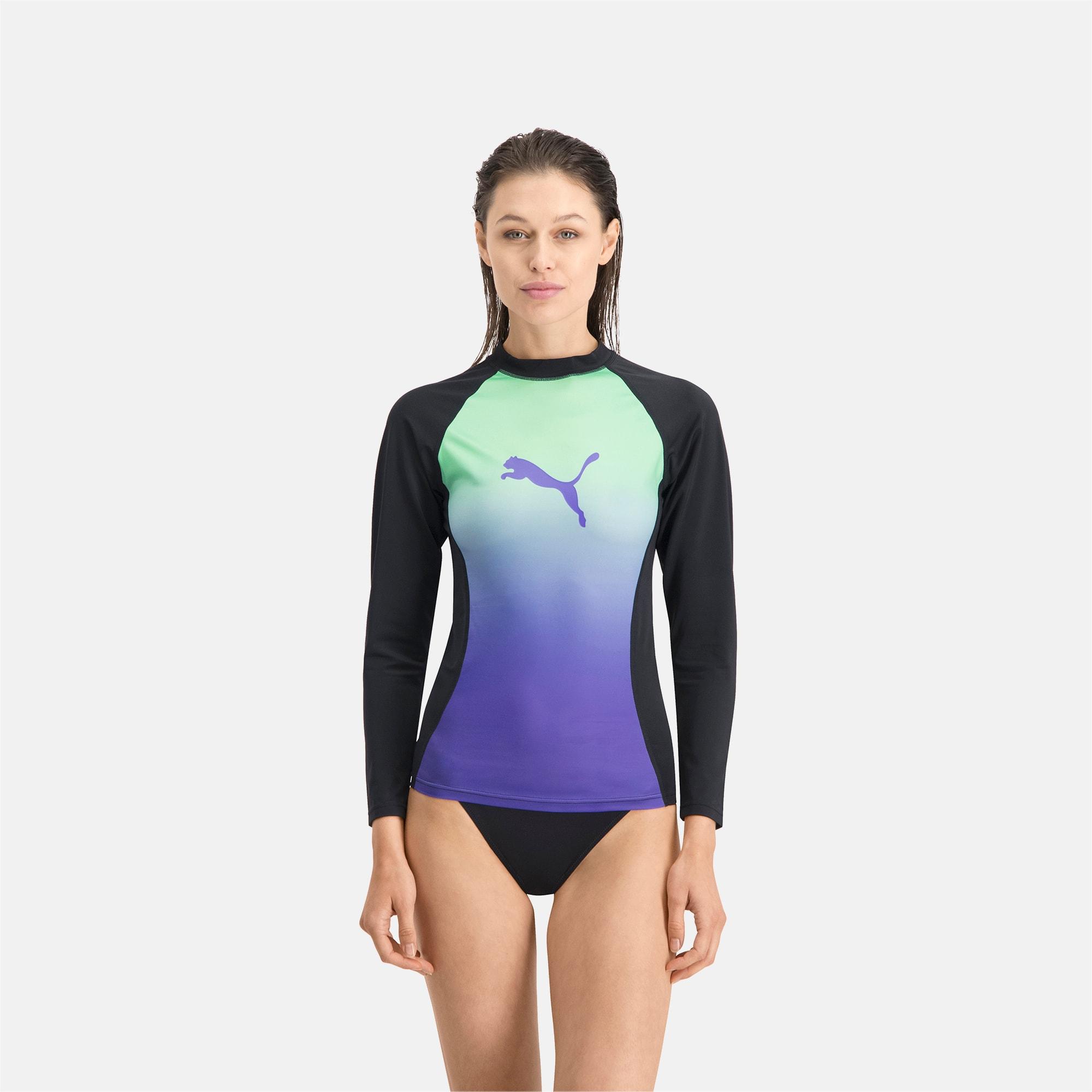 Maillot garde du corps Swim à manches longues et dégradé de couleur, Taille S, Vêtements - PUMA - Modalova