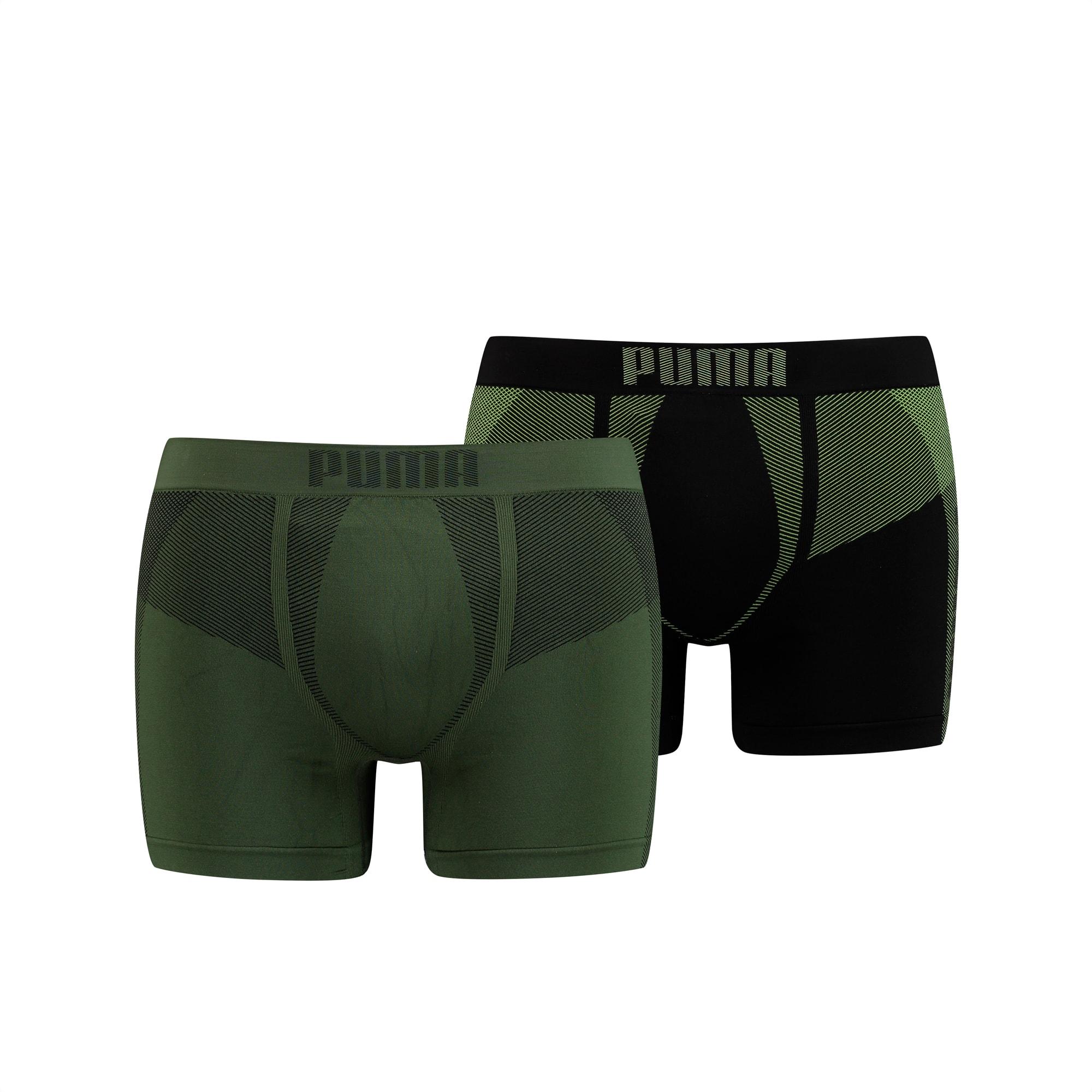PUMA Active Herren Nahtlose Boxershorts 2er Pack | Mit Aucun | Grün | Größe: S 907837_02_S