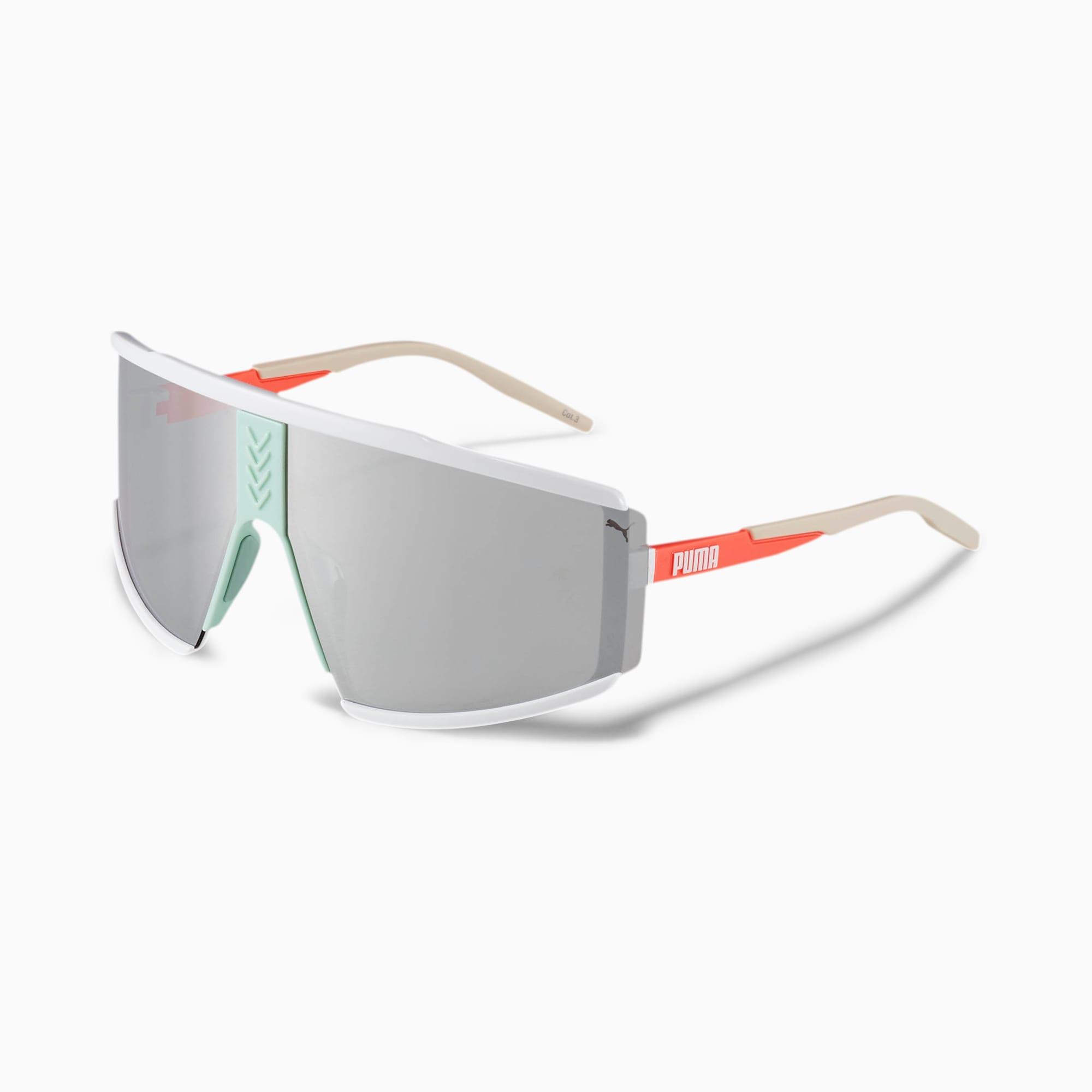 lunettes de soleil speed-up, blanc/orange/argent, accessoires
