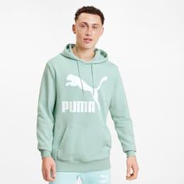 PUMA Meska Bluza Z Kapturem Classics Z Logo, Zielony, rozmiar XS, Odzież
