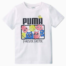 PUMA Dziewczęca Koszulka Monster, Biały, rozmiar 62, Odzież