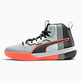 Legacy Disrupt Basketball Shoes, Puma Black-Red Blast, small
