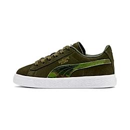 Suede Classic Ambush Little Kids' Shoes, Dachsund-Garden Green-B-W, small
