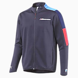 BMW M Motorsport Men's T7 Track Jacket, Team Blue, small
