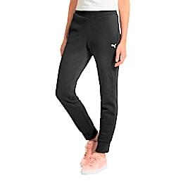 Essentials Fleece Women's Pants, Cotton Black-Cat, small