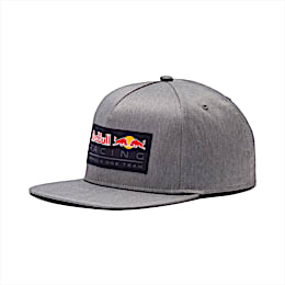 Red Bull Racing Lifestyle Flat Brim Cap, Smoked Pearl, small