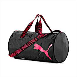 AT ESS Barrel Bag, Puma Black-Pink Alert-AOP, small