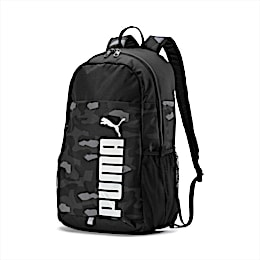 PUMA Style Backpack, Puma Black-Camo AOP, small