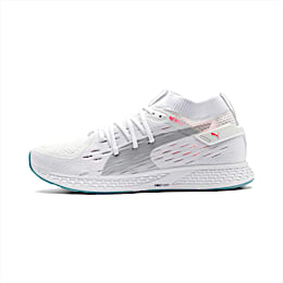 SPEED 500 Women's Running Shoes, White-Silver-Milky Blue-Pink, small
