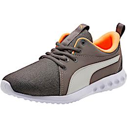 Carson 2 Casual Sneakers JR, Char Gray-Glac Gray-Orange, small