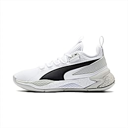 Uproar Core Men's Basketball Shoes, Puma White-Glacier Gray, small