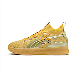 Clyde Court Title Run Basketball Shoes, Metallic Gold, small