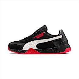 Ferrari Speed HYBRID LS Herren Sneaker, Blk-Pstl Prchmnt-Rosso Corsa, small