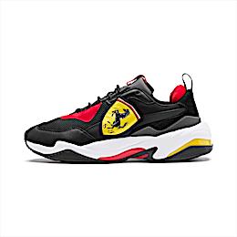 Ferrari Thunder Trainers, Puma Black-Rosso Corsa, small