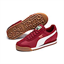 Roma Basic Summer Sneakers JR, Rhubarb-Puma White, small