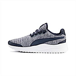 Pacer Next FS Knit Kids' Trainers, Peacoat-Puma White, small