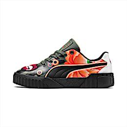 PUMA x SUE TSAI Cali 'Peonies Camo' Women's Sneakers, Puma Black-Puma Black, small