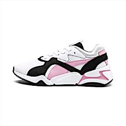 Nova '90s Bloc Women's Trainers, Puma White-Pale Pink, small