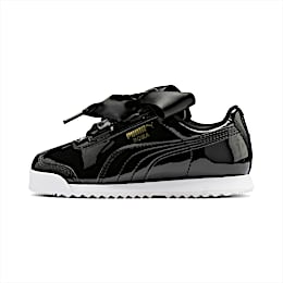 Roma Heart Patent Kids' Trainers, Puma Black, small