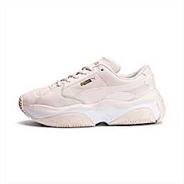 STORM.Y Leather Women's Trainers, Pastel Parchment, small