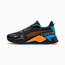 PUMA x TETRIS RS-X Trainers, Puma Black-Luminous Blue, small